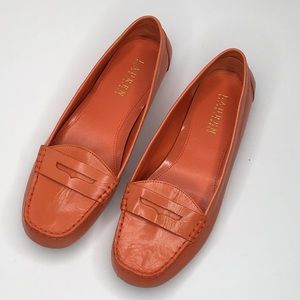 Lauren Ralph Lauren Penny Loafer Size 9 Orange